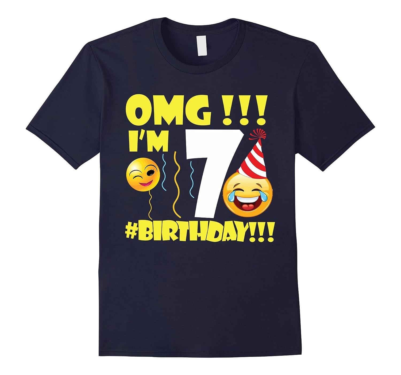 Emoji Birthday Shirt For 7 Year Old Party Girl Boy CL Colamaga