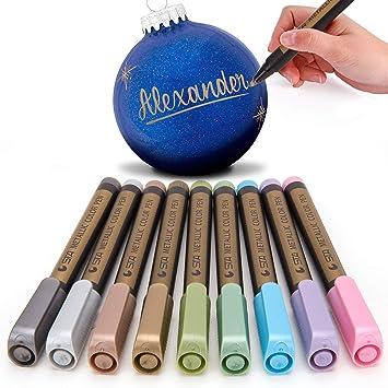 Amazon Com Metallic Marker Pen For Rock Painting Medium Tip For