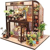 DIY Dollhouse Miniature Kit with Furniture, Wooden Mini Miniature Dollhouse Kits, Casa Miniatura Dolls House Plus Dust…