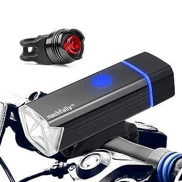 1f9279aa4d2b3 Bicicleta LED luz delantera y luz trasera