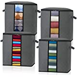 Foldable Storage Bags Organizer Containers 4-PACK Capacity Organizer Storage with Reinforced(3 Layer) Handle, Sturdy…