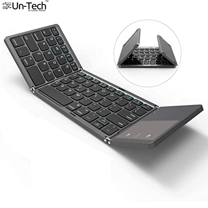 ab8df344a5a Gadgetbucket UnTech Foldable Bluetooth Keyboard with Touchpad for All  Devices Windows PC iOS Android Tablet MacBook Pro (Black) - Buy  Gadgetbucket UnTech ...