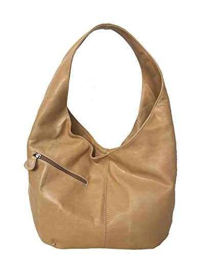 6aba52bc28f2 Amazon.com  Fgalaze Genuine Camel Leather Hobo Bag