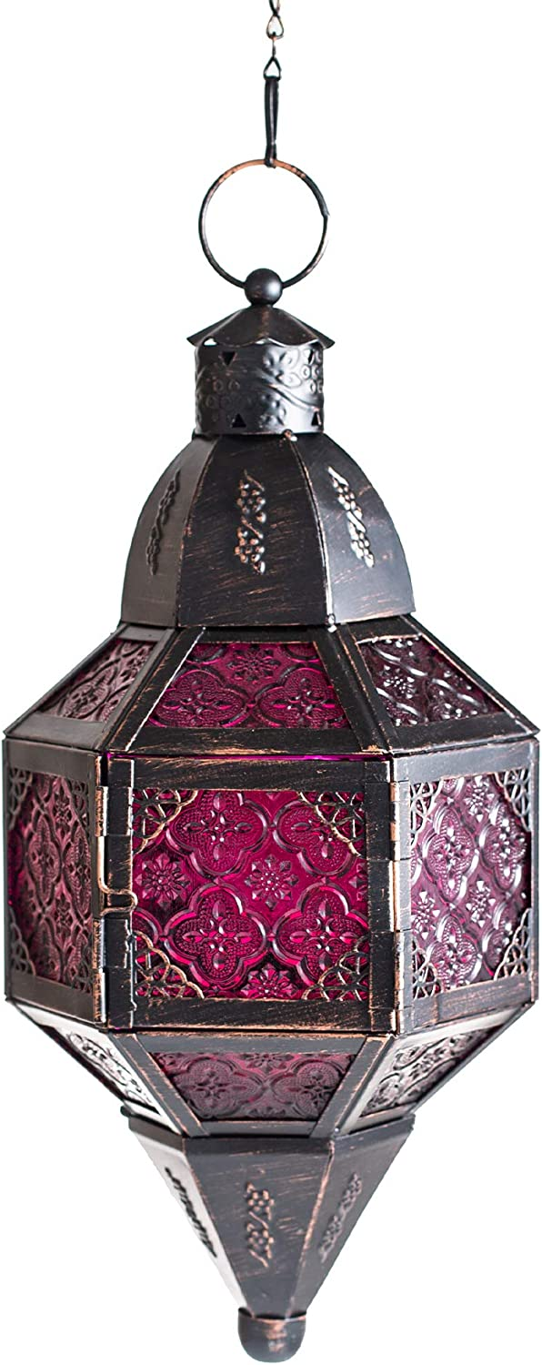 Ninganju Moroccan Hanging Metal Candle Lantern, Home Decorative Candle Holder for Wedding, Patio Parties, Indoor Decorative, Outdoor Garden Decor Candle Lanterns