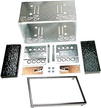 Carav 14 003 Doppel Din Autoradio Einbaurahmen Metall Schacht Universal 2 Din 180x103mm Auto
