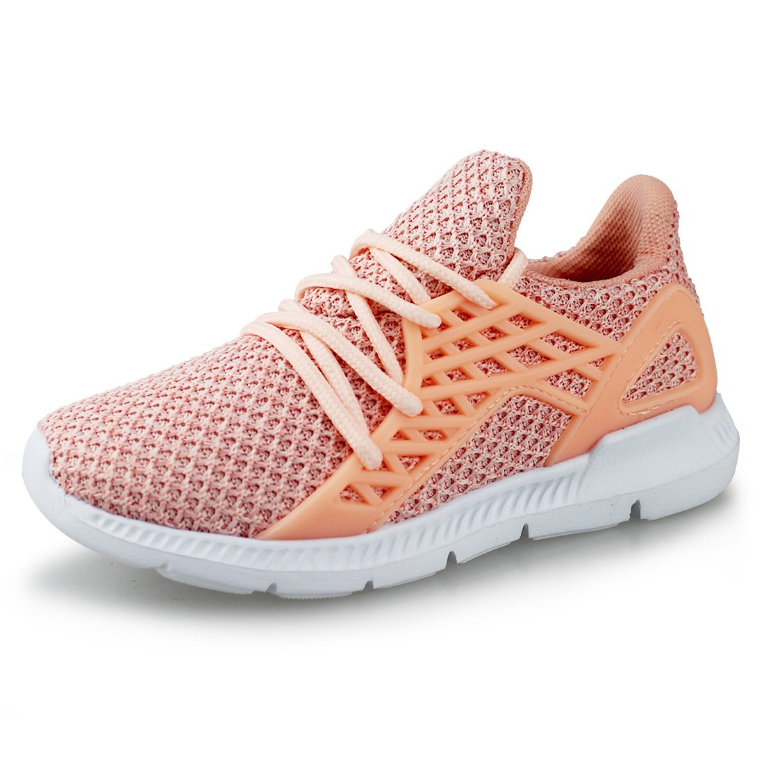 Hawkwell Youth Breathable Lightweight Running Shoes(Toddler/Little Kid),Pink Fly Knit,11 M US Little Kid