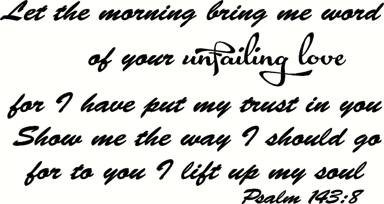 Psalm 143:8, 12