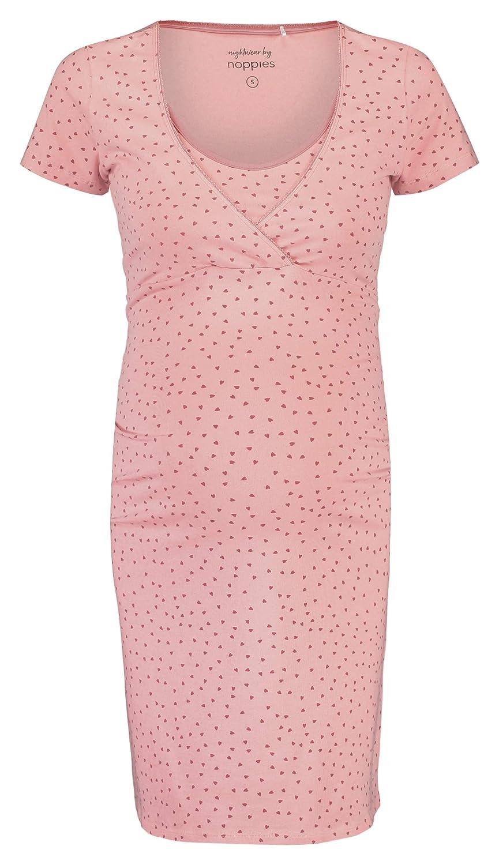 Noppies Damen Dress Nurs Ss Suzy Heart Umstandsnachthemd