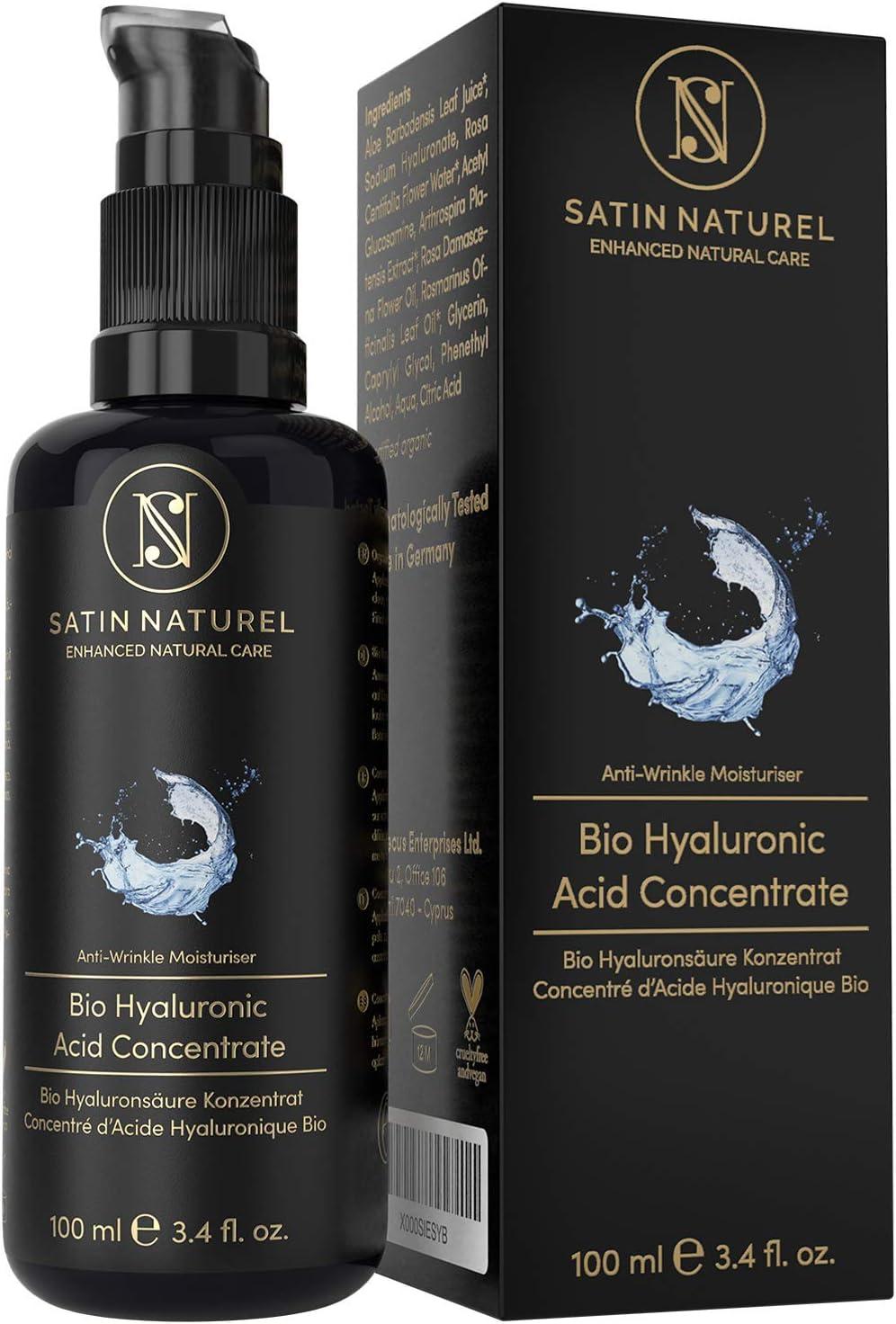 Satin Naturel Hyaluronic Acid Face Serum - Anti-Aging Gel with Aloe Vera ( 3 pack)