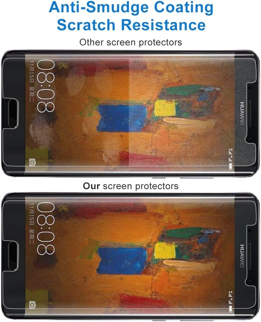 No Retail Package ALICEWU WJH 50 PCS for Huawei Mate 9 Pro 0.26mm 9H Surface Hardness 2.5D Explosion-Proof Tempered Glass Non-Full Screen Film