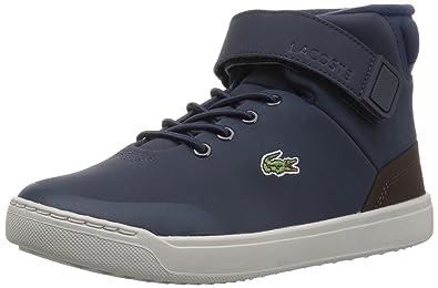 6a972c01af52b5 Lacoste Unisex Explorateur Classic Sneaker Navy tan Nubuck 1 Medium US  Little Kid