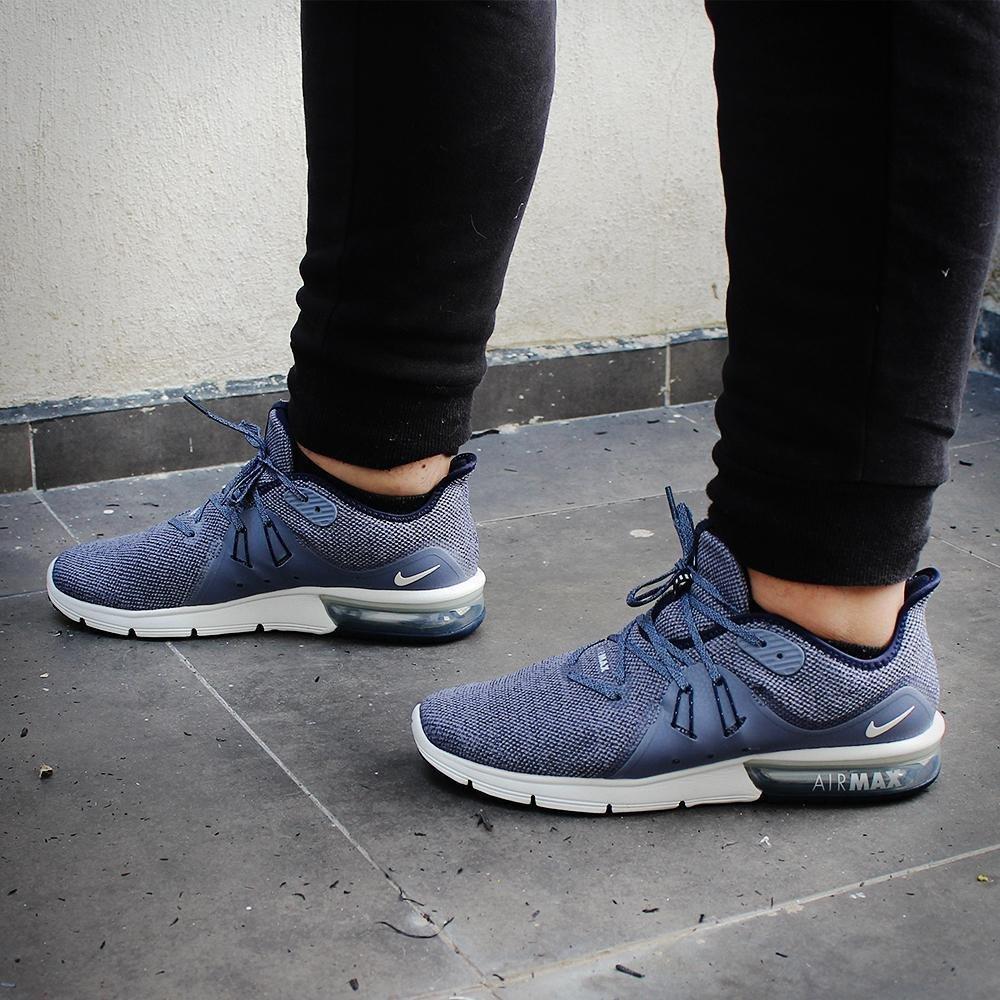53b3451daf4d9 ... Nike Tenis Air MAX Sequent 3-921694402 - Azul Acero - Hombre Amazon.com  ...
