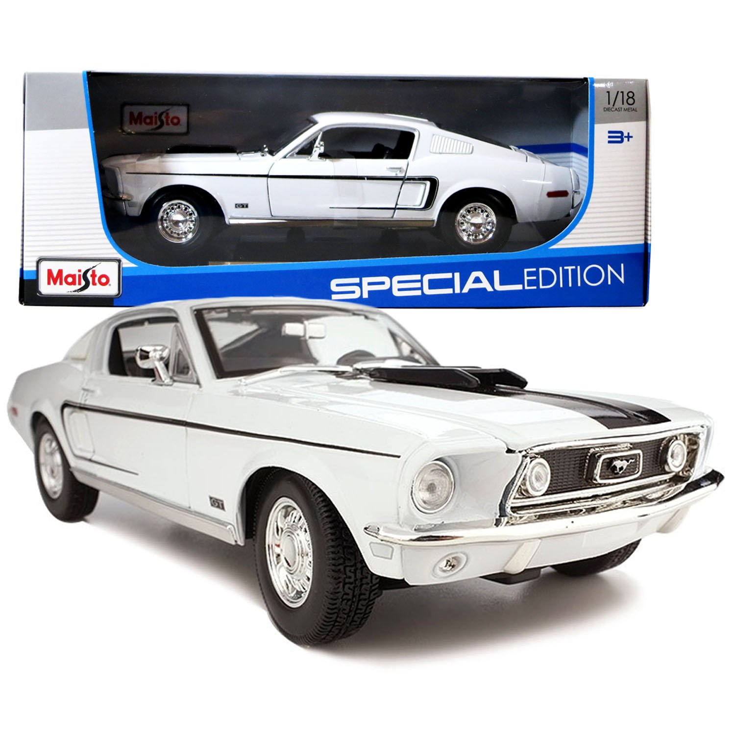 Amazon Com  Ford Mustang Gt Cobra Jet Fastback   White Toys Games