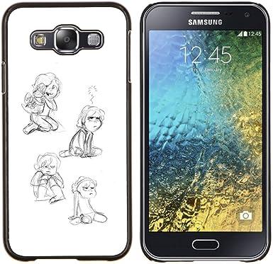 Smartphone Duro Carcasa PC para Samsung Galaxy E5 E500/funda ...