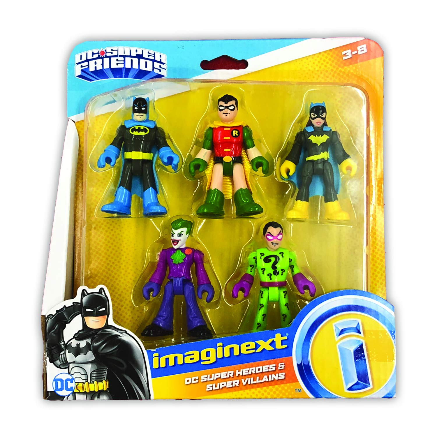 Fisher-Price Imaginext DC Heroes and Super Villains Action Figure 5-Pack by Fisher-Price (Image #1)