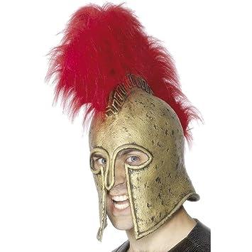 Casco de gladiador romano accesorios cabeza guerrero