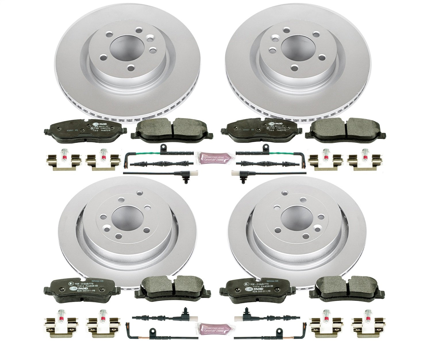 Power Stop ESK4059 Front and Rear Euro-Stop Brake Kit