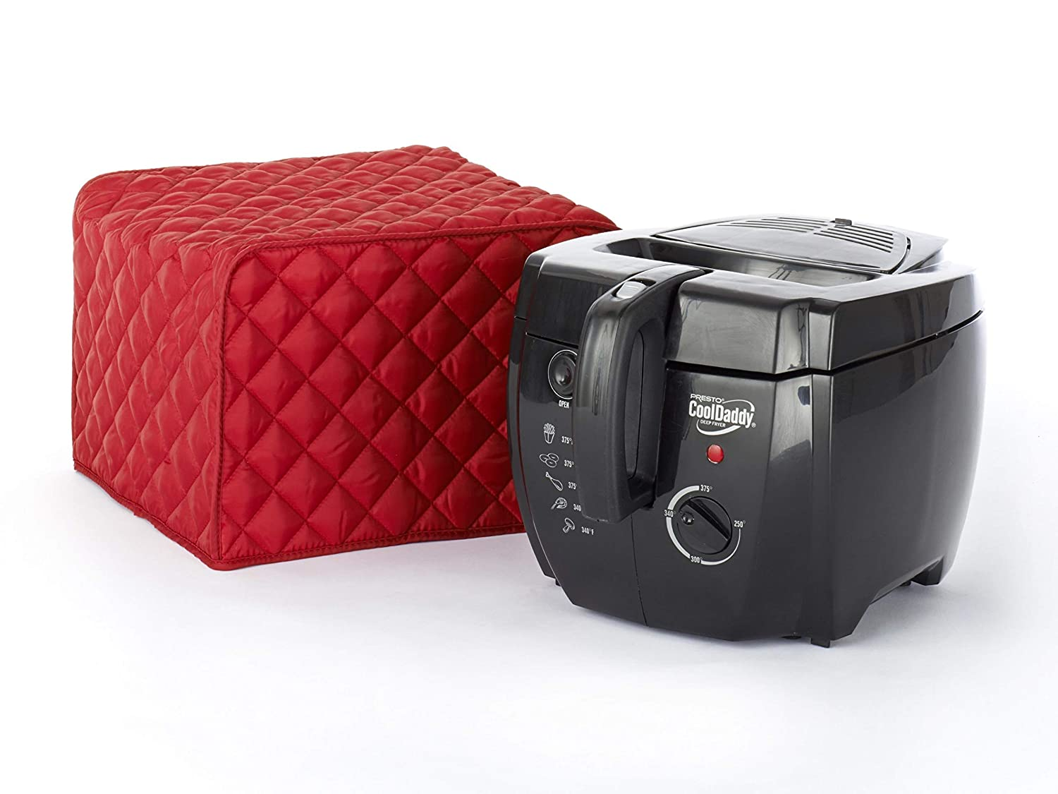 CoverMates – Deep Fryer Cover – 17W x 11D x 15H – Diamond Collection – 2 YR Warranty – Year Around Protection - Red