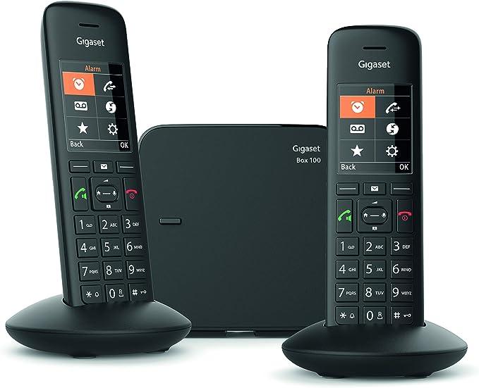 Gigaset C570 Duo - Teléfono (Teléfono DECT, Terminal inalámbrico, Altavoz, 200 entradas, Identificador de Llamadas,Sin Contestador, Negro): Amazon.es: Electrónica