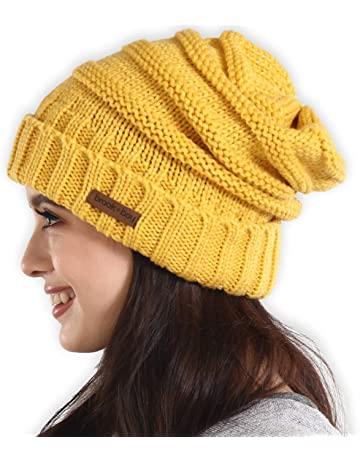 d89207e8649 Brook + Bay Slouchy Cable Knit Cuff Beanie - Stay Warm   Stylish - Chunky