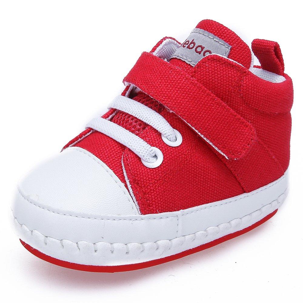 DELEBAO Bambina Sneakers Scarpe Primi Passi in Tela Scarpe per Bambini Morbide Suola Antiscivolo Scarpe da Neonato