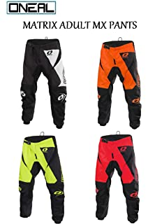 2019 ONEAL MATRIX Adult MX Motorcycle ATV Quad Dirt Bike Enduro Motocross Gear Protective Clothing Off Road Race Suit ORANGE , PANT : 34 inches ORANGE : TOP M