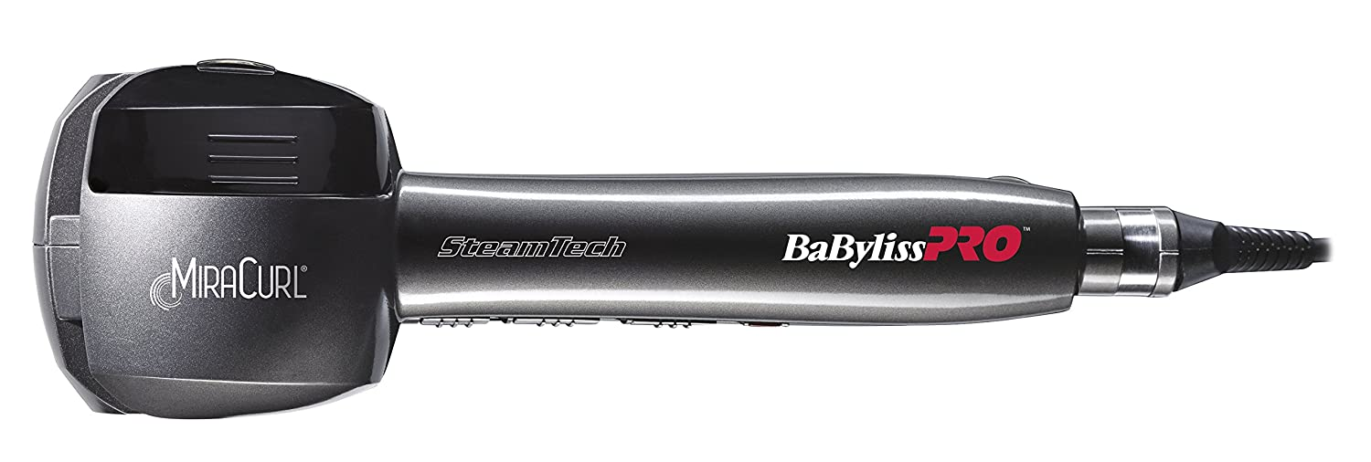 BaByliss MiraCurl SteamTech Ondulador color gris y plata