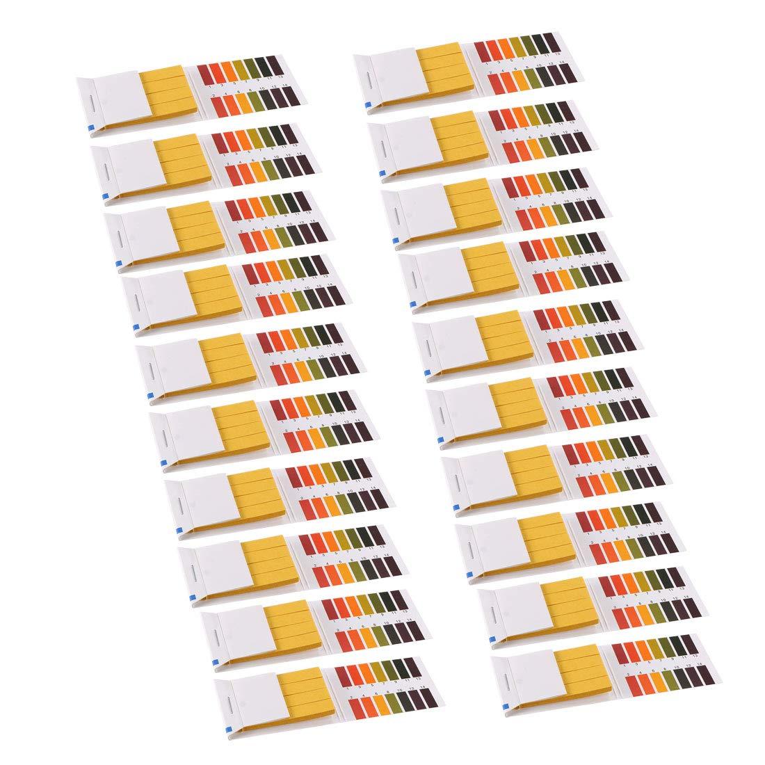 sourcing map 80x PH striscia prova 1-14 Indicatore universale laboratorio produzione carta Litums Tester acido alcalina