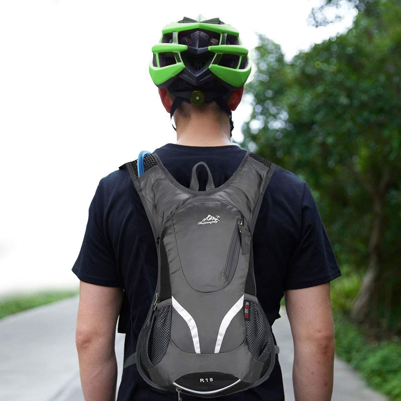 Hwjianfeng 15L Bicicleta Mochila de Hombro para Hidrataci/ón de Agua Respirable Impermeable Ultraligero con Cubierta de Lluvia
