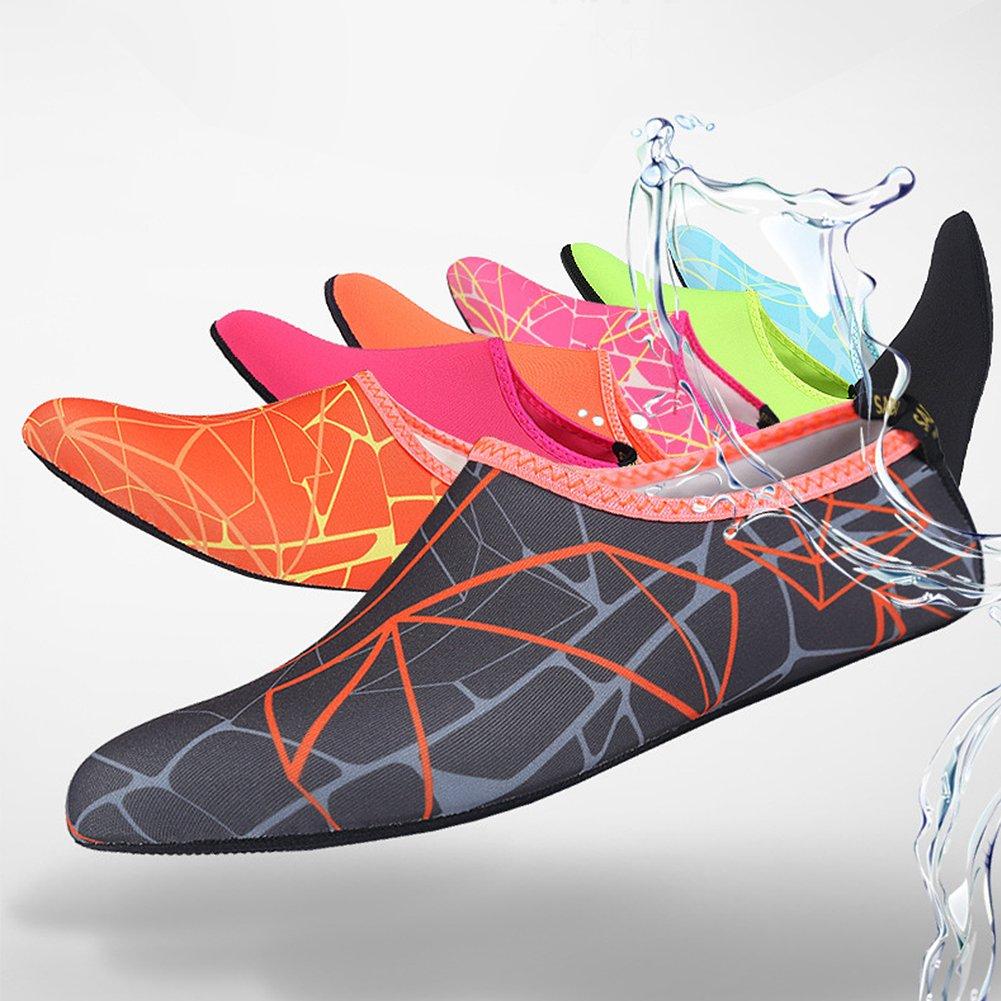 Vandot Hombres Mujeres Zapatos de Agua Descalzo Barefoot Respirable Calcetines de Buceo Natación Zapatos para Playa Aire Libre Piscina Surf Yoga Snorkel, ...