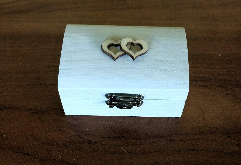 Decoshop boîte de bague de mariage boîte porteur d anneau boîte à bijouxbois