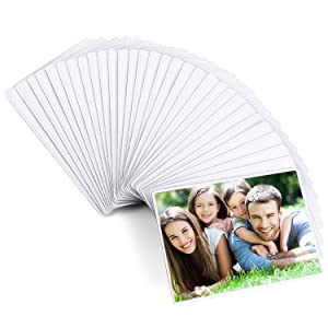 Magicfly Magnetic Photo Frame, Pack of 30, Fits 4 X 6 Inch Photos, Magnetic Picture Frame with Clear Photo Pocket for Refrigerator, Fridge, Office Cabinet, White