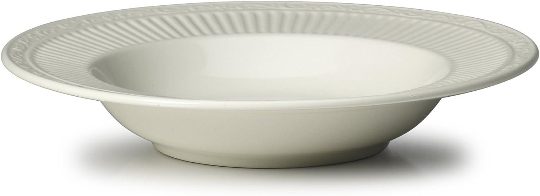 Mikasa Italian Countryside Rim Soup Bowl, 9.25-Inch, White - DD900-220
