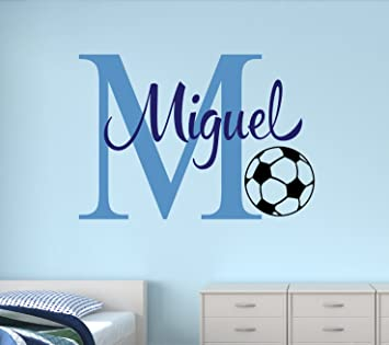 Amazoncom Custom Soccer Name Monogram Wall Decal Nursery Wall - Monogram vinyl wall decals for boys