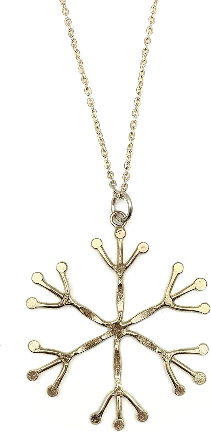 Anju Jewelry Gold Plated Collection Necklace Snowflake