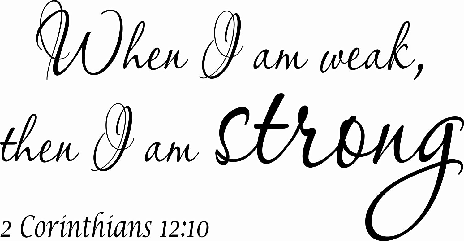 Amazon.com: 2 Corinthians 12:10 V2 11 x 22 Bible Verse Wall Decal ...
