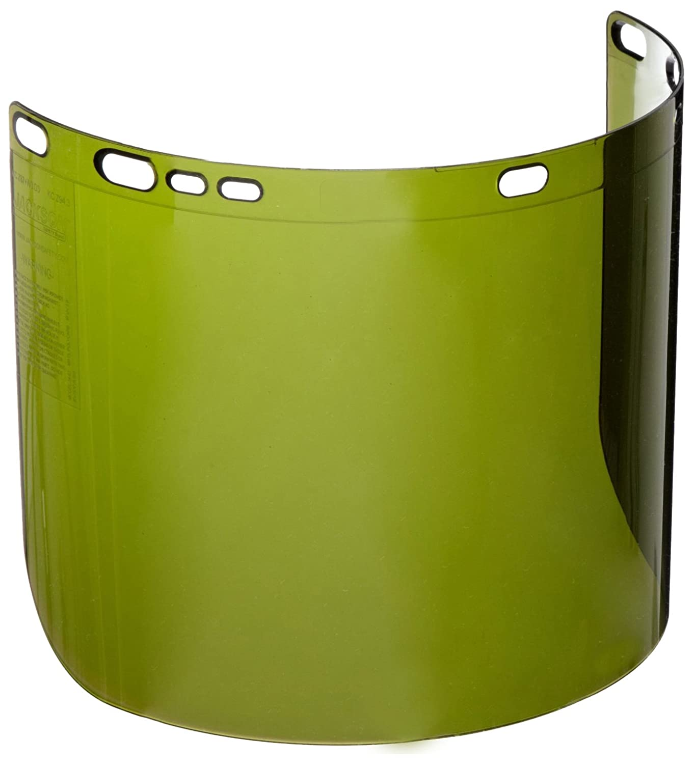 15-1//2 Length x 9 Width x 0.060 Thick Kimberly-Clark Professional B00982YD68 Dark Green 15-1//2 Length x 9 Width x 0.060 Thick Jackson Safety F40 Propionate Unbound Face Shield Case of 12