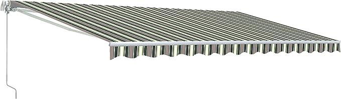 Grey Color ALEKO 10 x 8 Feet Retractable Home Patio Canopy Awning