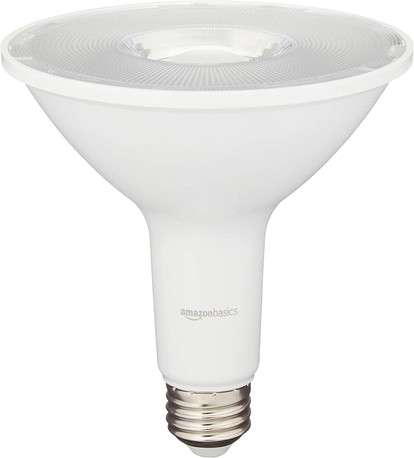 AmazonBasics 90 Watt Equivalent, 3000K White, Dimmable, 15,000 Hour Lifetime, PAR38 LED Light Bulb, 6-Pack