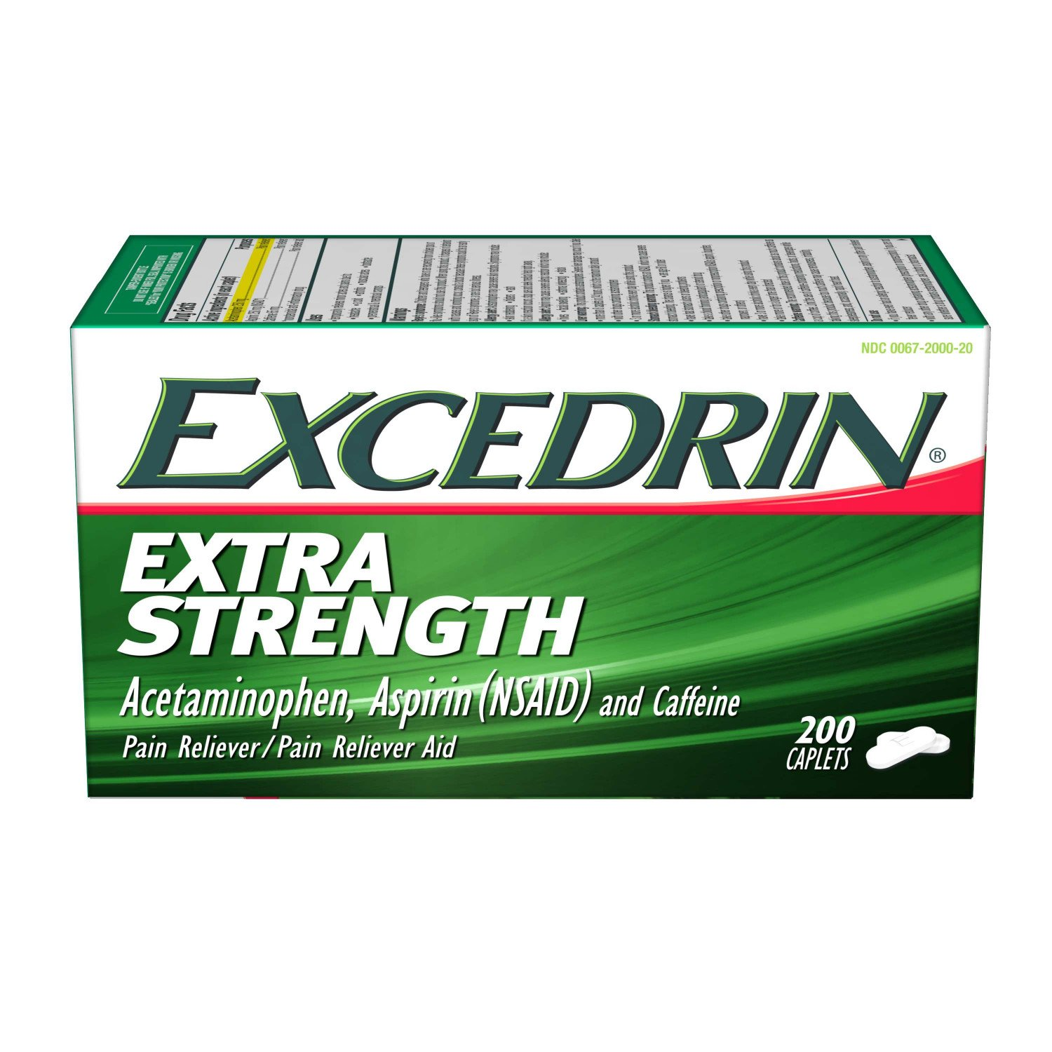 Excedrin Extra Strength Caplets for Pain Relief, 200 count