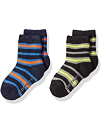 Carhartt Toddler Boy's 2 Pack Infant-Toddler Thermal Crew Socks with Grippers