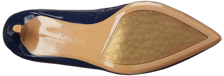 Calvin Klein Women's Gayle Pump B0105V503K 5.5 B(M) US|Deep Navy Patent