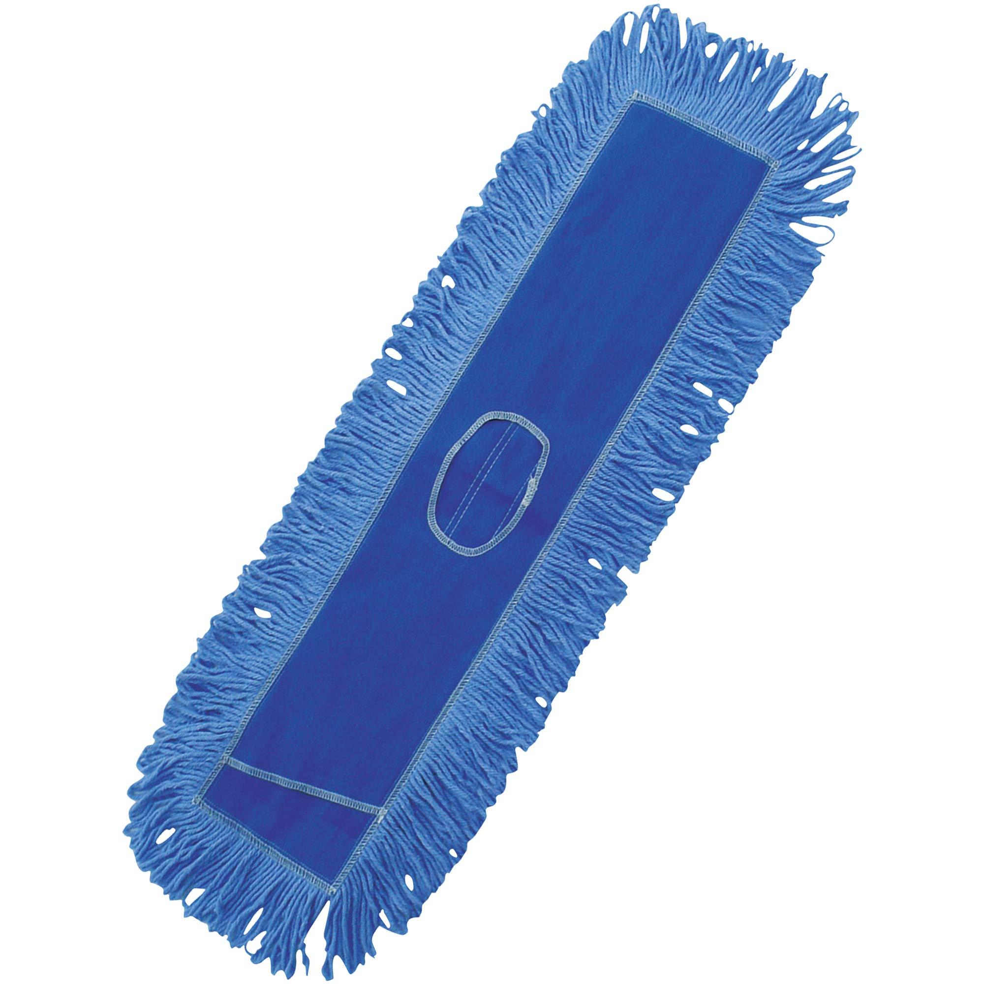 Deluxe Looped-End Dust Mop Head, 36'', Blue, 1/Each