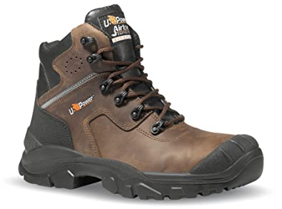 8ff49bd7d18 U-POWER Greenland S3 Brown Leather Lace Up Metal Free Toecap Safety Boots