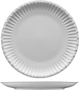 Fortessa Fortaluxe Food Truck Chic Paper Plate Design, Dinner Plate, 10-Inch, Set of 4