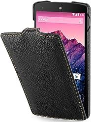 StilGut, UltraSlim, pochette exclusive de cuir véritable pour la Nexus 4 de Google/LG E960, en noir