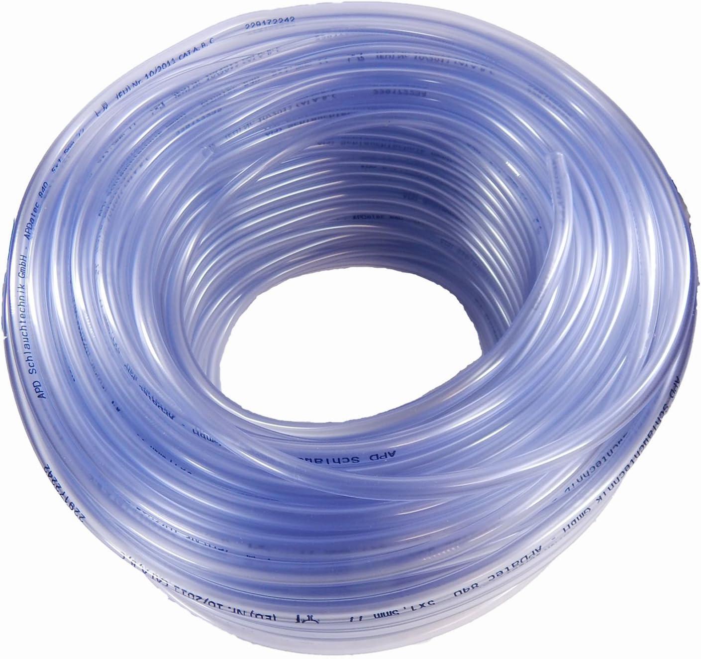 PVC Schlauch klar Ø6x10mm Meterware Aquariumschlauch Luftschlauch