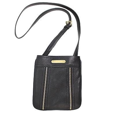 b345968c28fd70 Michael Kors Moxley Large Leather Crossbody Bag Black: Handbags: Amazon.com