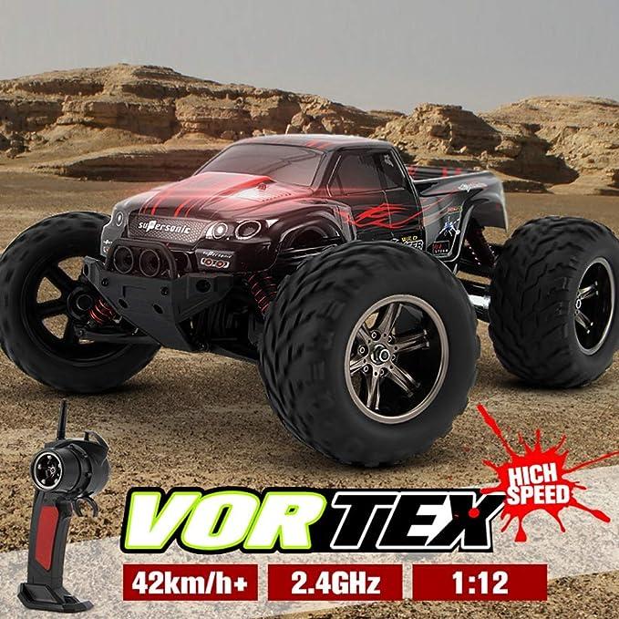 GxyWan Camión de Control Remoto Tamaño Grande 1:12 Relación de Alta Velocidad 42 km/h 4WD 2.4 GHz Coche de Control Remoto Camión de Furgoneta eléctrico ...