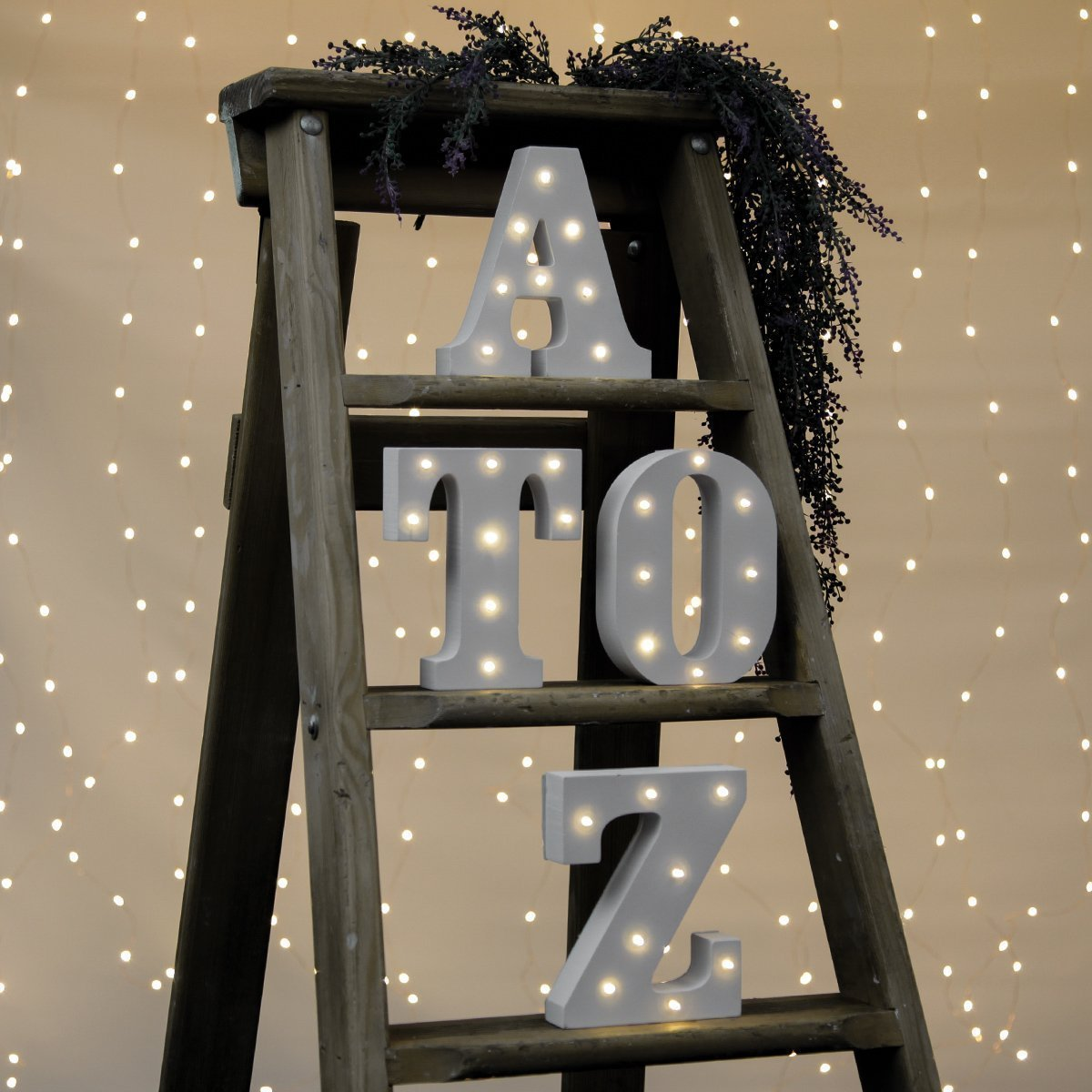 Kerong DIY LED Light up Wooden Alphabet Marquee Letter Lights for Festival Decorative Home Party Wedding Scene Holiday Birthday Christmas Valentine,Battery Operated Warm White (T) by Kerong (Image #5)